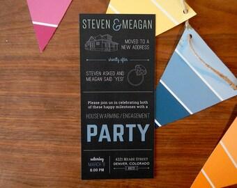 Housewarming Engagement Party Invitation - Customizable & Printable Design