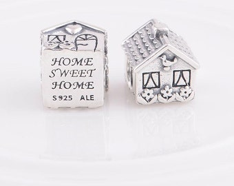 New Authentic Pandora 925 ALE Sterling Silver My Home Sweet Home House Love Family Bead charm 791267