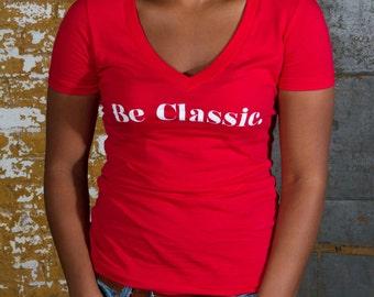 Women's Be Classic t shirt, red