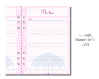 Printable Planner Refill (A5) - Rainy Days [L500-D0005 CS02] Instant Download