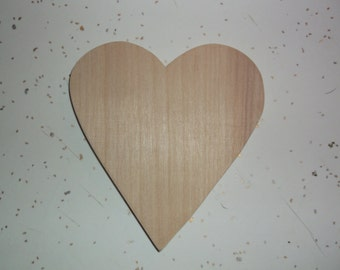 "Unfinished Wooden Hearts - 3 1/2"" x 4"""