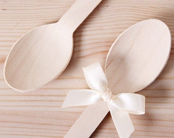 20 x Wooden Spoons / Wood Spoons / Weddings / Birthday Parties / Party Decor / Party favors / Picnic set / Spoons / Party Supplies /
