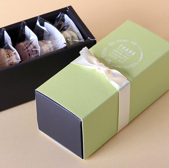 5 x Macaron boxes / Macaron Gift Boxes / Macaron Paper ...