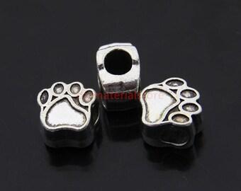 20 pc Tibetan Silver Bear Paw Beads - 11x11x7.5mm