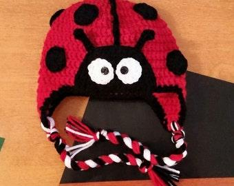 Ladybug Crochet Hat/ any size