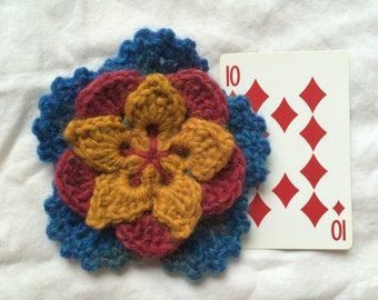 Large Layered Crocheted Starbloom Flower