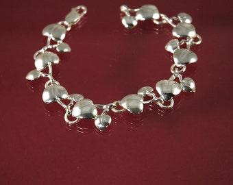 Heart leaf link bracelet