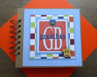 Boy Scrapbook Album, Pre-made Boy Scrapbook, Boy Mini Album