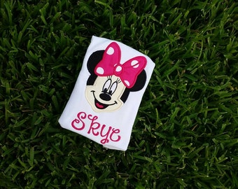 custom Personalized minnie mouse shirt