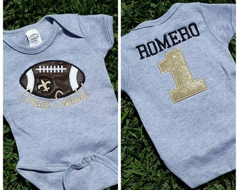 personalized custom new orleans Geaux Saints onsie tshirt