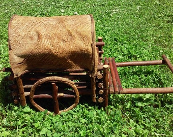 Vintage Covered Wagon Display