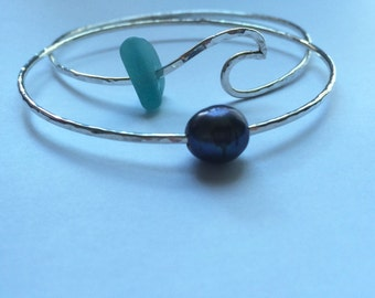 Ocean Swell Bangle (14 gauge)