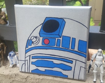R2D2 Star Wars Canvas Painting