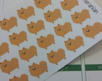 Pomeranian Stickers! Dog Stickers! Perfect for your Erin Condren Life Planner, calendar, Paper Plum, Filofax!