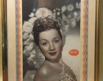 Vintage Picture Frame with Olga San Juan