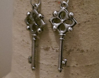 Silver Keys Earrings