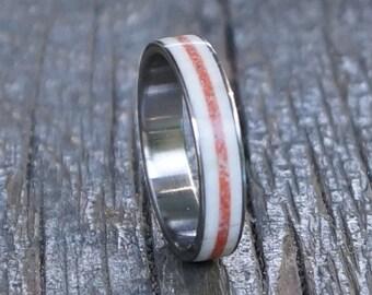 Antler Ring, Antler Band, Corall Ring, Stainless Steel Ring, Wedding Ring