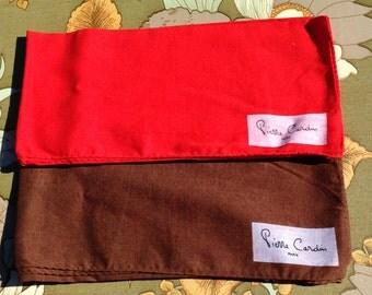 Pierre Cardin X 2 scarves