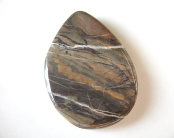 Jasper pendant, earthy colors, 40 by 28mm - # 65