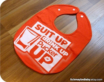 Recycled T-Shirt Baby Bib, Beer Baby Shower Baby Gift, Funny Drinking Baby Boy
