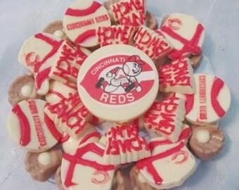 Cincinnati Reds Custom Baseball chocolates candy tray