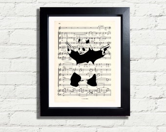 Banksy Art Panda Picture Graffiti Wall Art Print INSTANT DIGITAL DOWNLOAD A4 Printable Jpeg Pdf Image Wall Hanging Home Decor Gift Idea