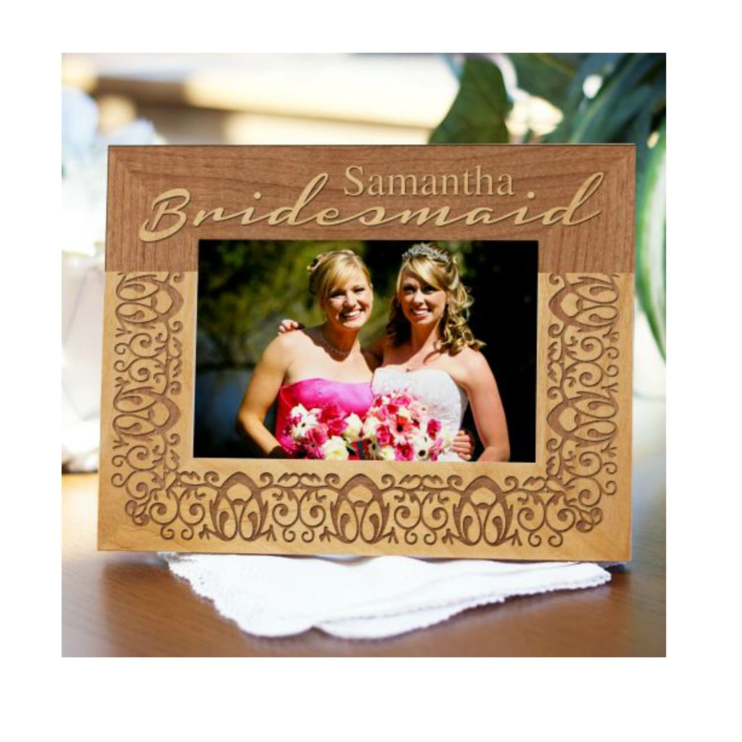 Wedding Party Engraved Wood Frame