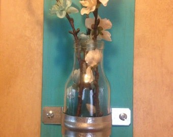 Set of 2 Rustic Wall Vases