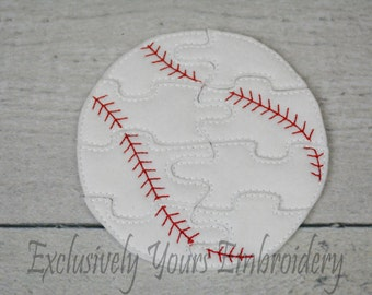 Baseball Puzzle w/Storage Pouch, Quiet Game, Toddler Toy, Travel Toy, Party Favor
