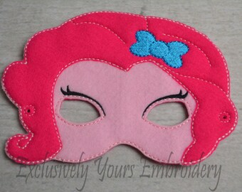 Pink Pony Girl Little Pony Girl themed Children's Mask  - Costume - Theater - Dress Up - Halloween - Face Mask - Pretend Play - Party Favor