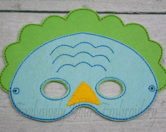 Dino Children's Mask  - Costume - Theater - Dress Up - Halloween - Face Mask - Pretend Play - Party Favor