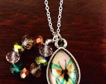 Butterfly Teardrop Necklace