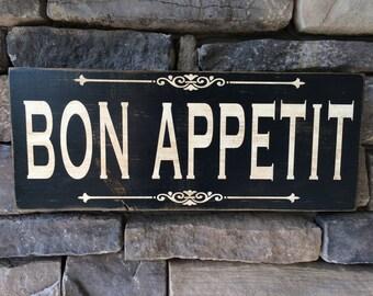 Bon Appetit  Kitchen Wooden Sign