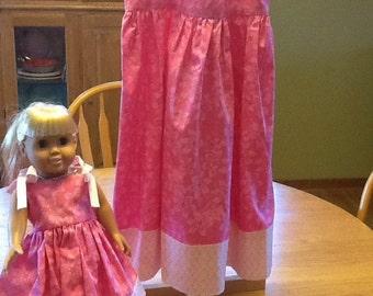 """Sundress for little girl and 18"""" doll"""