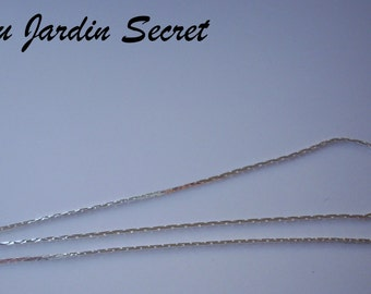 "5 m chain ""serpentine"" silver - in the Secret Garden metal"