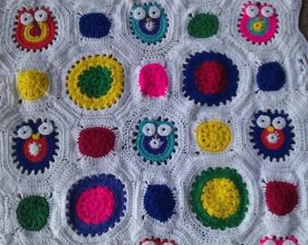 Handmade Owl Afghan