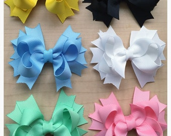 Hair bow lot of 8 / YOU PICK COLORS!!