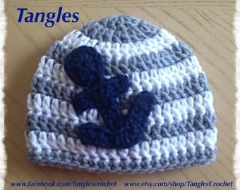 Baby Nautical Hat * Newborn * Made To Order