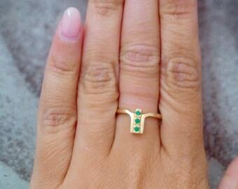 SALE! May Birthstone Ring,Gemstones Ring,Stack Emerald Ring,Gold Ring, Green Ring, Dainty Ring, Tiny Ring