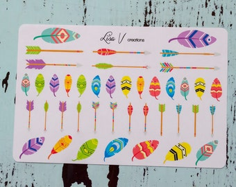 Feathers & Arrows stickers for your planner or calendar!