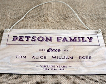 Wooden Family Signs