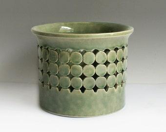 Mid Century plant pot Söndgen Sondgen from Germany 60s pottery planter fat lava