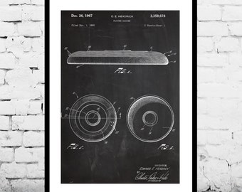 Frisbee Poster, Frisbee Patent, Frisbee Decor, Frisbee Art, Frisbee Print, Frisbee Wall Art, Frisbee Blueprint