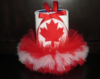 Canada dog tutu dress