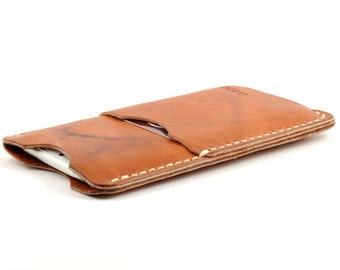 Apple iPhone 6 Case Wallet Cover with Card Slot - Tan