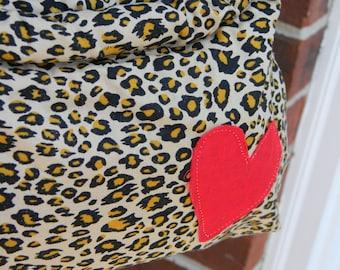 Leopard Heart Clutch