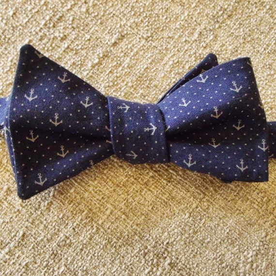 s and youth size navy wth grey anchors by tieposhknots
