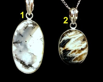 Dendrite Stone Collection (Silver Plated)