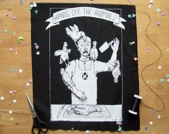 Hands Off The Animals! backpatch