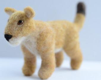 Needle Felted Lioness, Needle Felted Lion, Lioness Scuplture, Lion Sculpture, READY TO SHIP, Lion Art